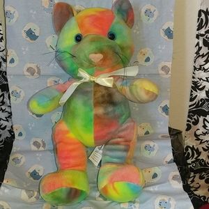 Rainbow cat 12 inches tall